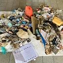 Müll, gesammelt entlang der Route Departementale bei Ranspach le Haut 2020